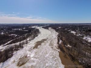 Ice Jam Flooding Side Cut Park